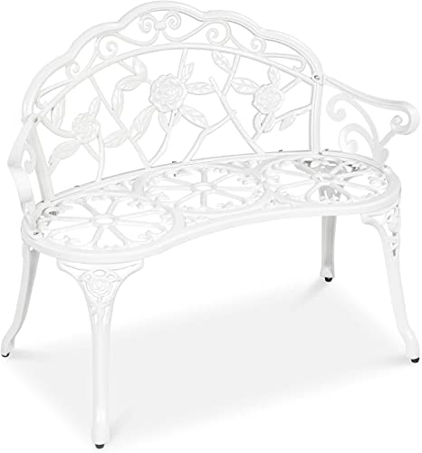 Best Choice Products Steel Garden Bench Loveseat Outdoor Furniture