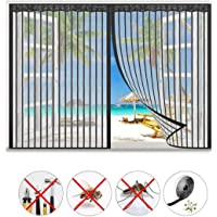 Magnetic flying insect screen door Magnetic fly net door is automatically sealed up and down, no drilling is needed…
