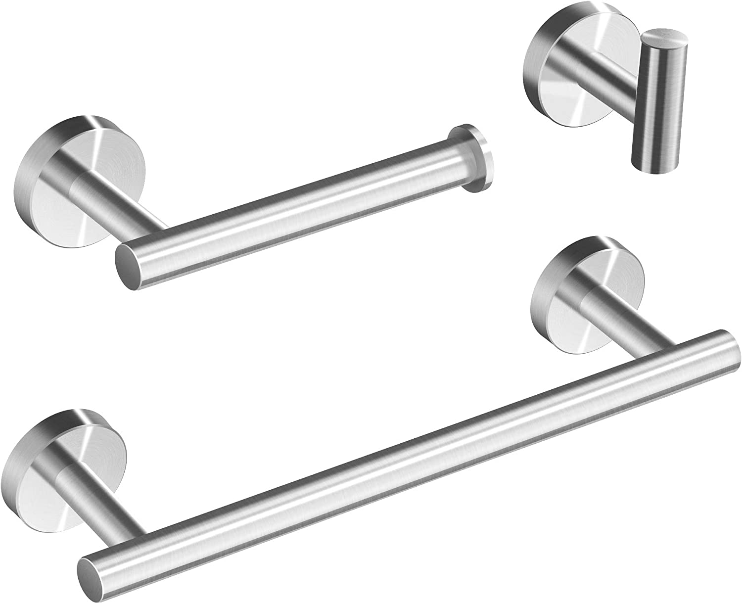 Piece Set Includes Hand Towel Ring Marmolux Acc Bathroom Hardware Accessories Set Stainless Steel Brushed Nickel 3 Toilet Paper Holder Robe Hook Heavy Duty Paper Towel Holder Hanger