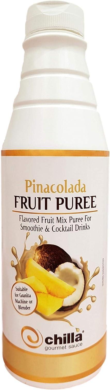 Chilla Pina Colada - Mezclador de puré de frutas para cócteles y batidos, 1 litro