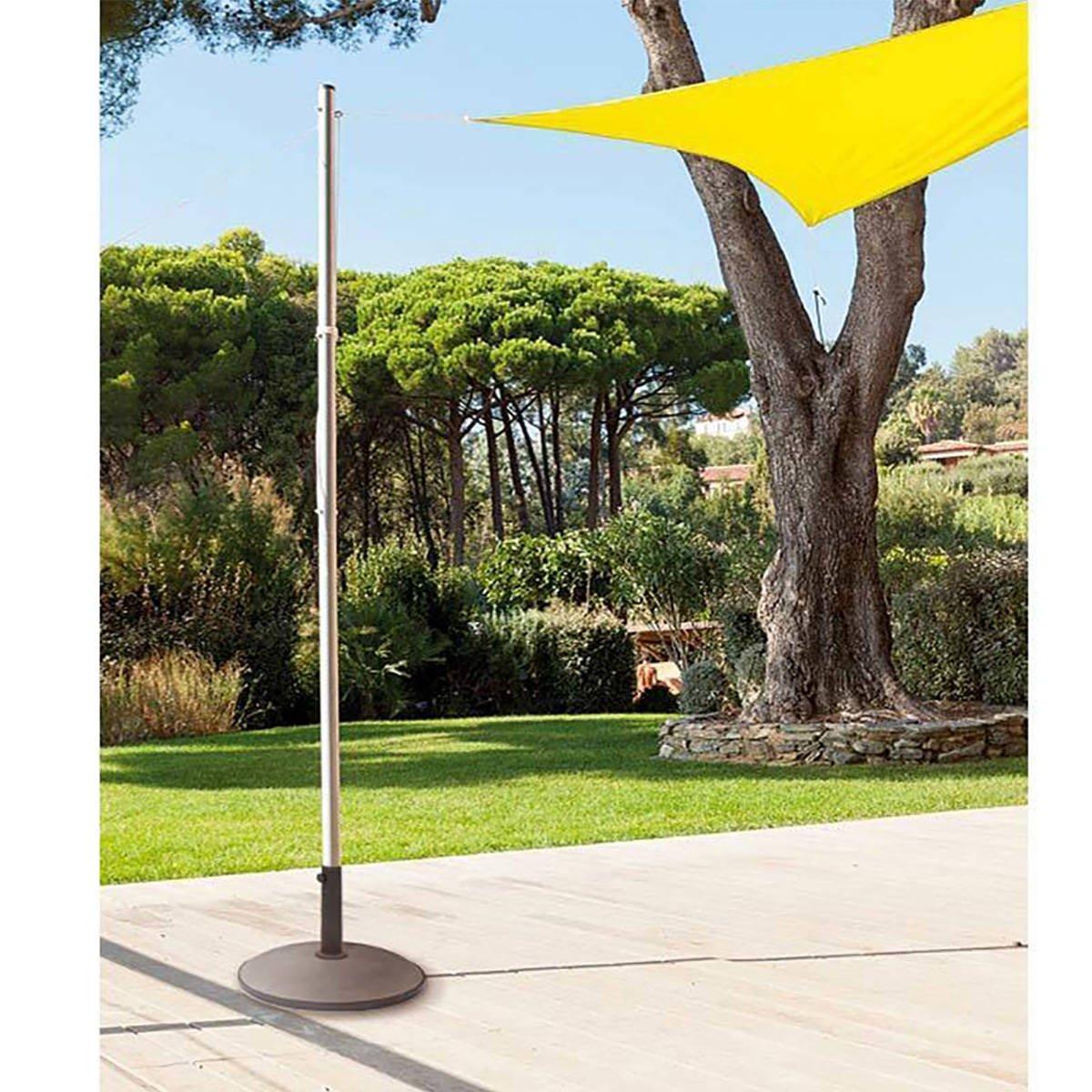 BefestiguNässet für für für Sonnensegel Sonnenschutz - SEHR ROBUST - Höhe 255 cm mit Durchmesser 50 mm 440d79