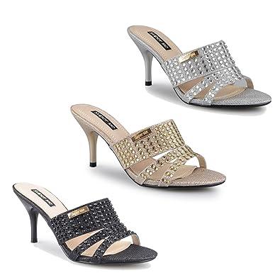 sandalen mit absatz schwarz gold