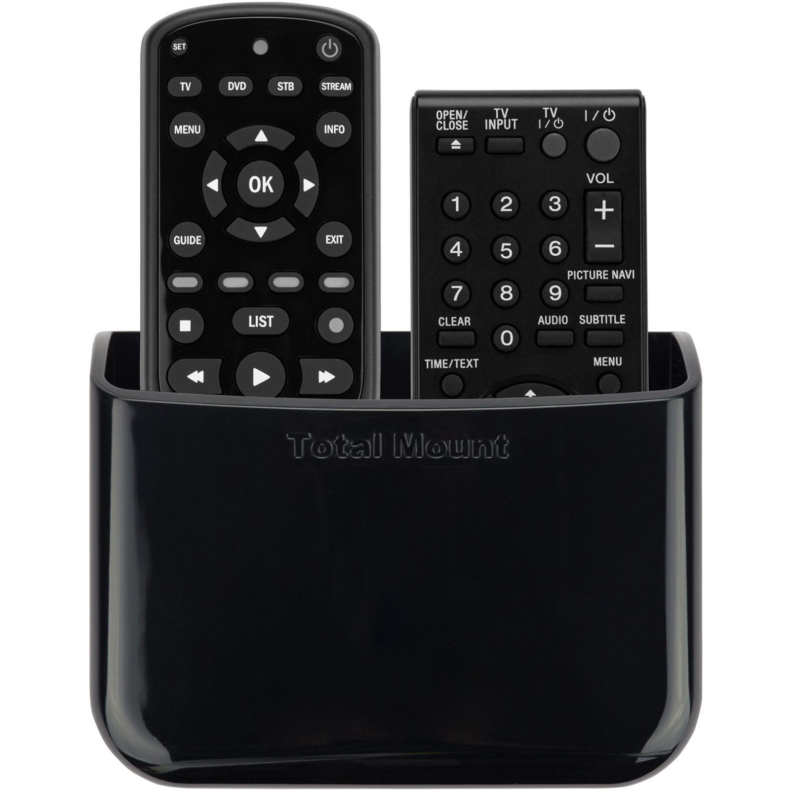TotalMount Universal Remote Holder (Quantity 1 - Two Remotes per Holder) by TotalMount