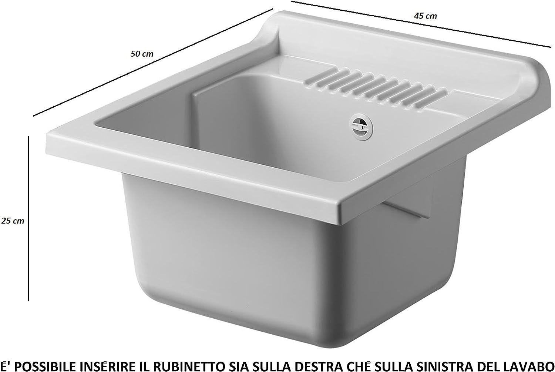 Negrari 6006SKBBA Lavadero-fregadero de madera laminada, medidas ...