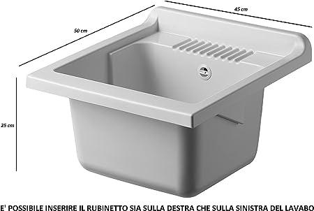 Bormioli A Mueble Lavabo de Resina para exteriores, blanco: Amazon ...