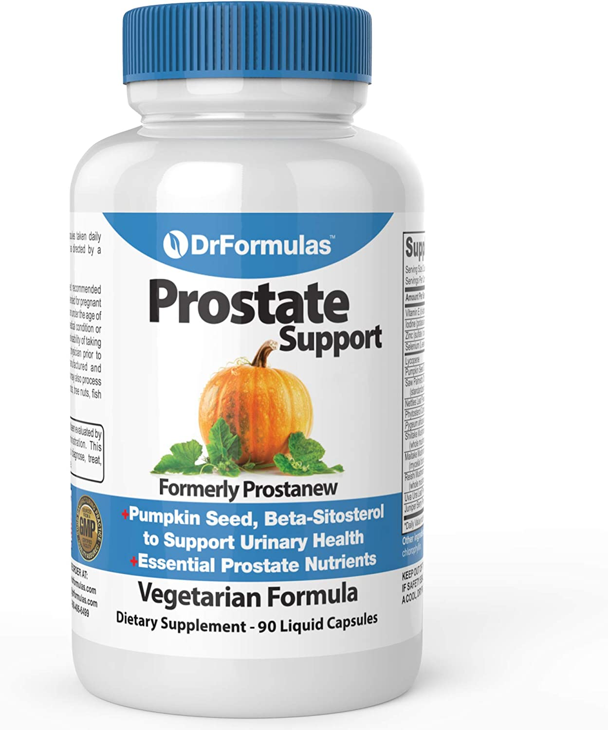 DrFormulas Super Prostate Supplement | Best Prostate Support with Saw Palmetto Extract, Beta Sitosterol, Pumpkin Seed Oil Now, 90 Vegetarian Capsules