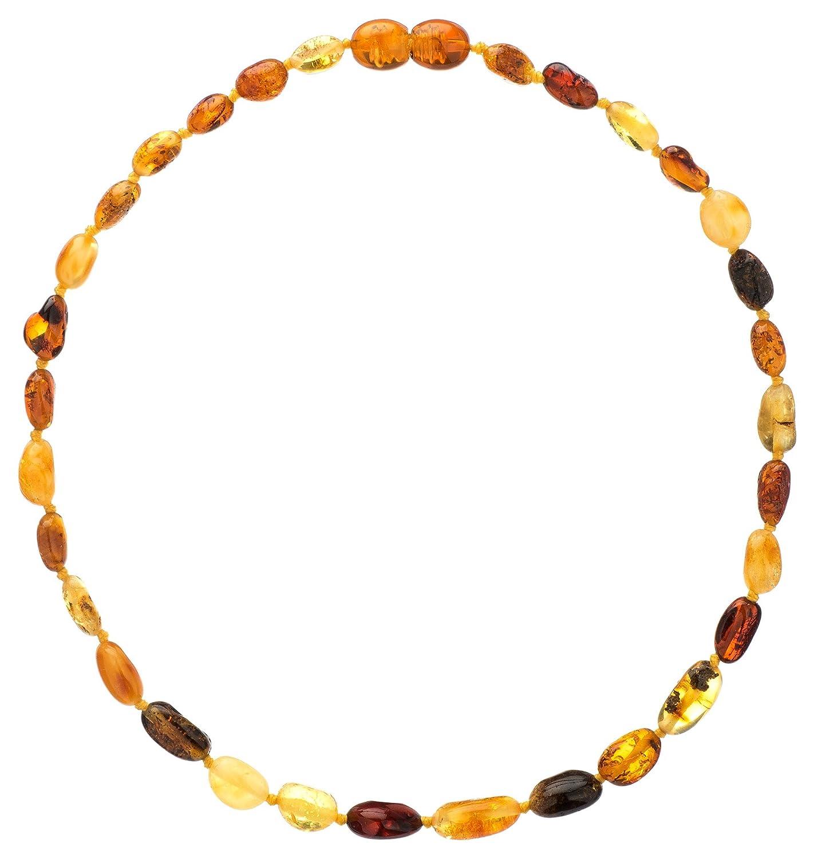 amazon com amber teething necklace for babies unisex anti