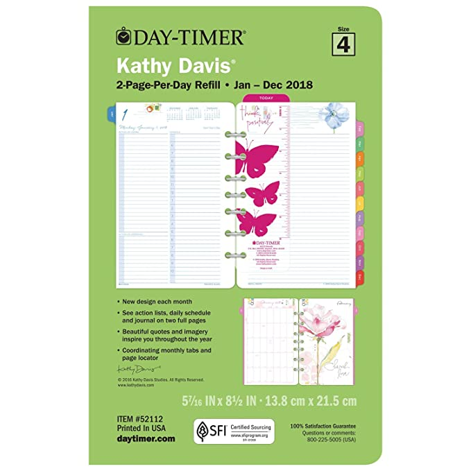 Amazon.com : Day-Timer Kathy Davis 2 Page per Day Appointment Book ...