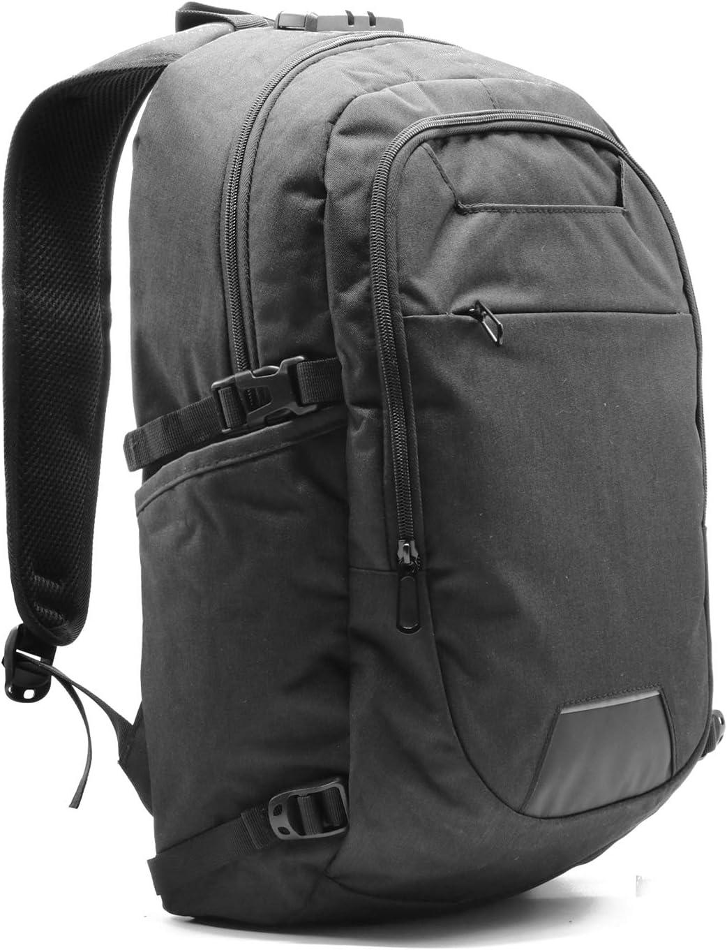 Business Waterproof Travel Laptop Backpack – USB Charging Port Computer Bag for Men and Women, Slim Water Resistant University, School Book Bag Fits Below 21 in Laptop Notebook Black Color