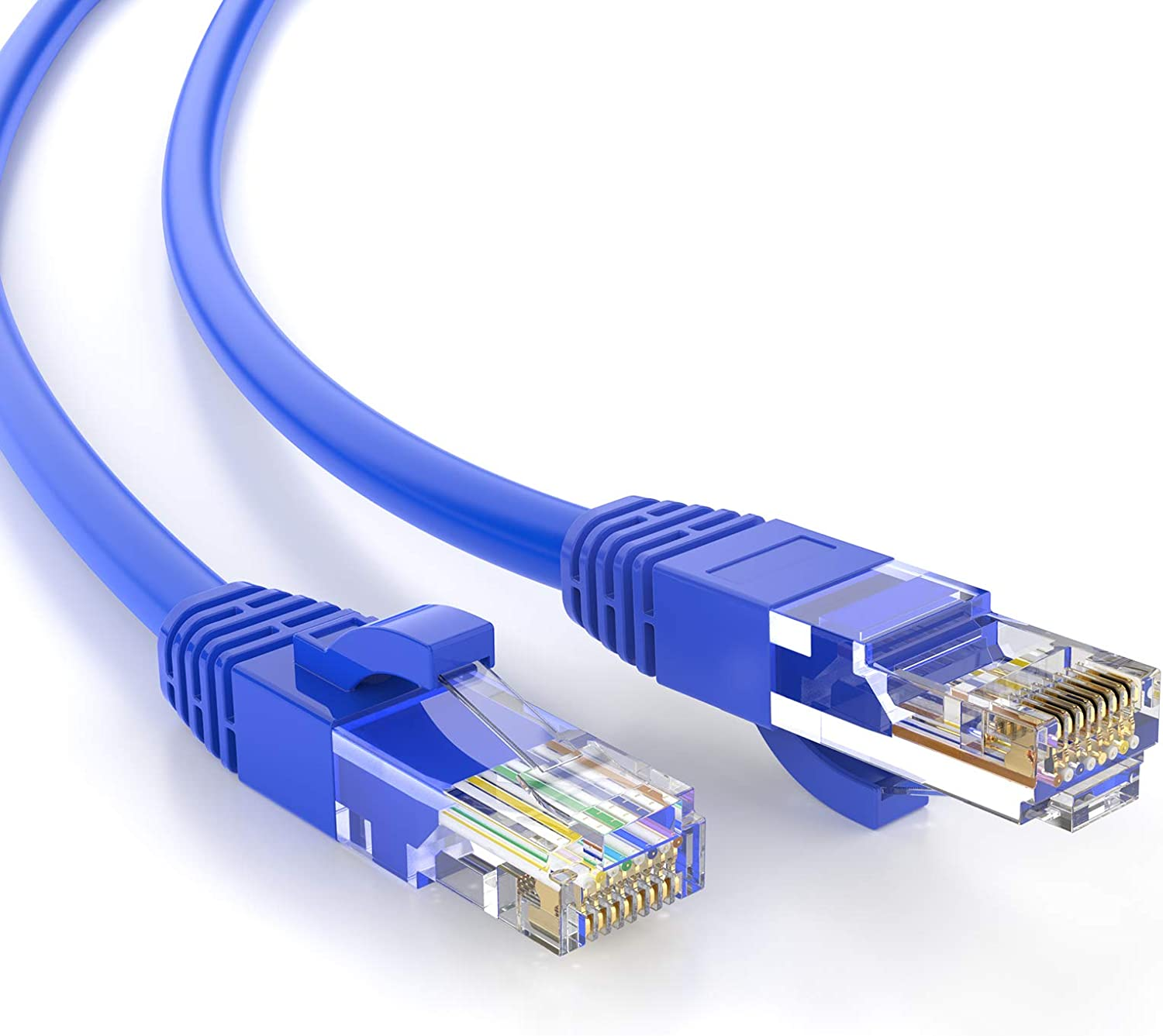 2 Cables of 5ft Cat5e 350mhz Copper Wire Ethernet Network Patch Cable Green LL43774 for use with Computers or Hubs or Switches or Patch Panels