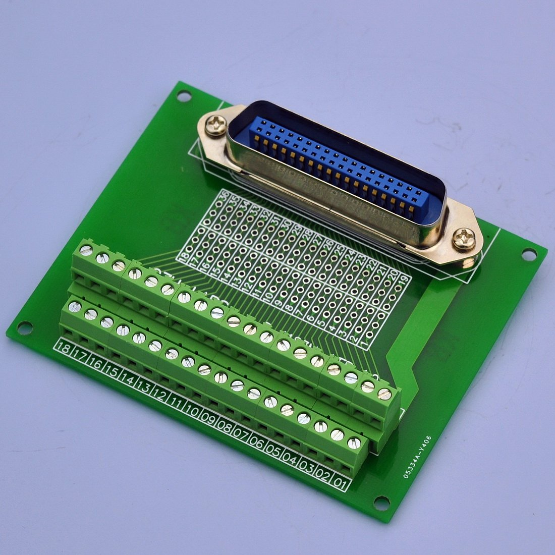 Electronics-Salon 36-Pin 0.085'' Centronics Vertical Male Ribbon Connector Screw Terminal Block Breakout Board.