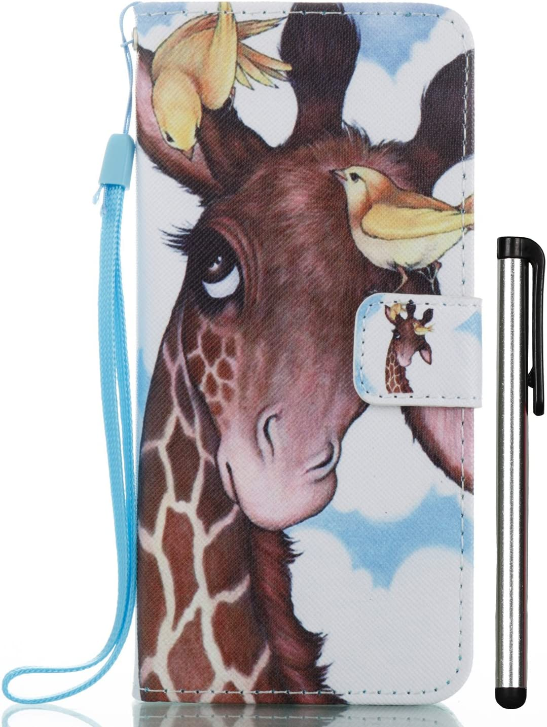 Galaxy S8 Plus Case, S8 Plus Case, 2 Card Slot Wallet Folio PU Leather Case Cover with Magnetic Book Case for Samsung Galaxy S8+ 2017 6.2 inch SM-G9 + Stylus Bird Deer