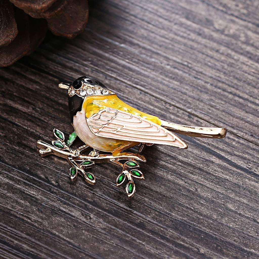 Ogquaton Alliage Oiseau Broche Broches Broches Homme Femmes Qualit/é Alliage Oiseau Broche Costumes Robe Banquet Broche Cadeau Noir