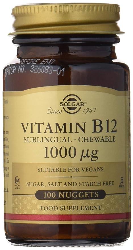 Solgar® Vitamina B12, 100 Comprimidos - Reduce el cansancio, Ayuda a liberar la energía de los alimentos, activa la vitalidad - Masticables, Apto para ...