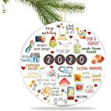 BERCOL Personalized 2020 Christmas Ornaments, DIY Creative Quarantine Kit with Toilet Paper, Christmas Tree Decoration Christ