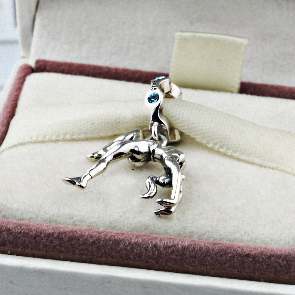 925 Sterling Silver Gymnastics Charms Dangles for Bracelets Dance