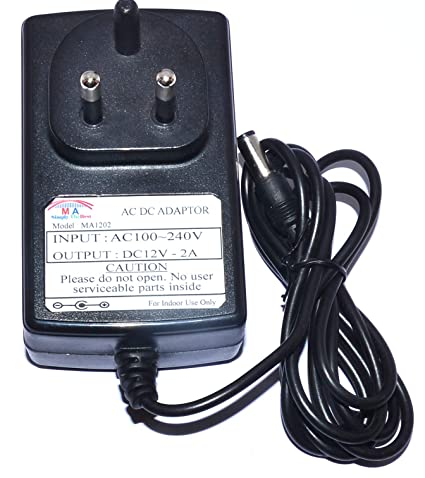 MA Enterprises DC 12V 2A AC DC Power Adaptor Power Supply For LG LCD  Monitor And Other