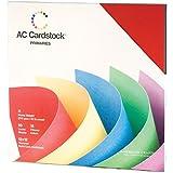 American Crafts Textured Cardstock Pack 12x12 60/Pkg-Primaries
