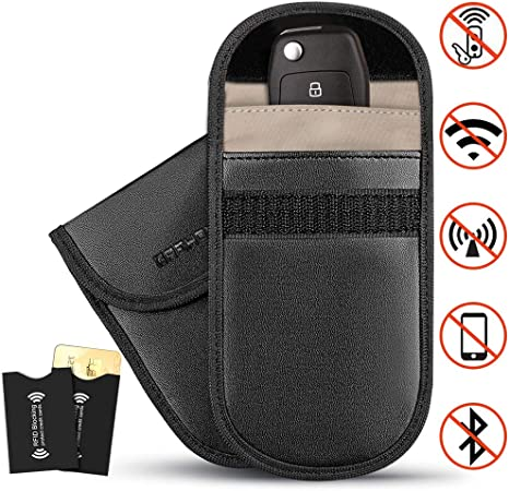 Car Keys Signal Blocker,Signal Blocker,Rfid Signal Blocking Bag,Key Fob Cover,Keyless Case,Remote Control Key Protector Pouch Blocks RFID//WIFI//GSM//LTE//NFC