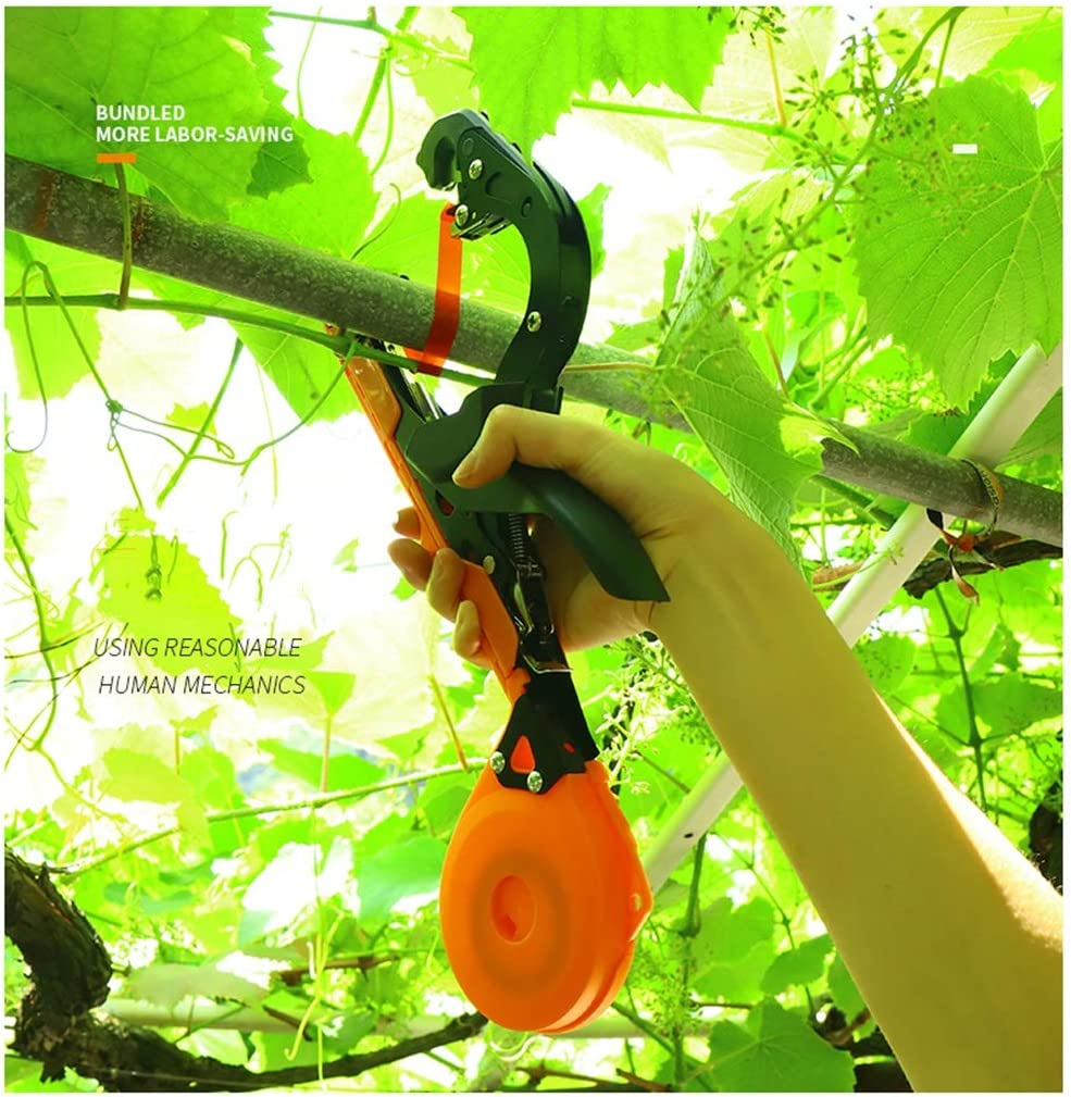 Size : A+20 Thick Tapes+1 Box Nail Garden Vine Tying Tape Agriculture Tapener Tape Tool Binding of Grapes Cucumbers YL Vineyard Tying Machine Plant Tying Tool and Tomatoes