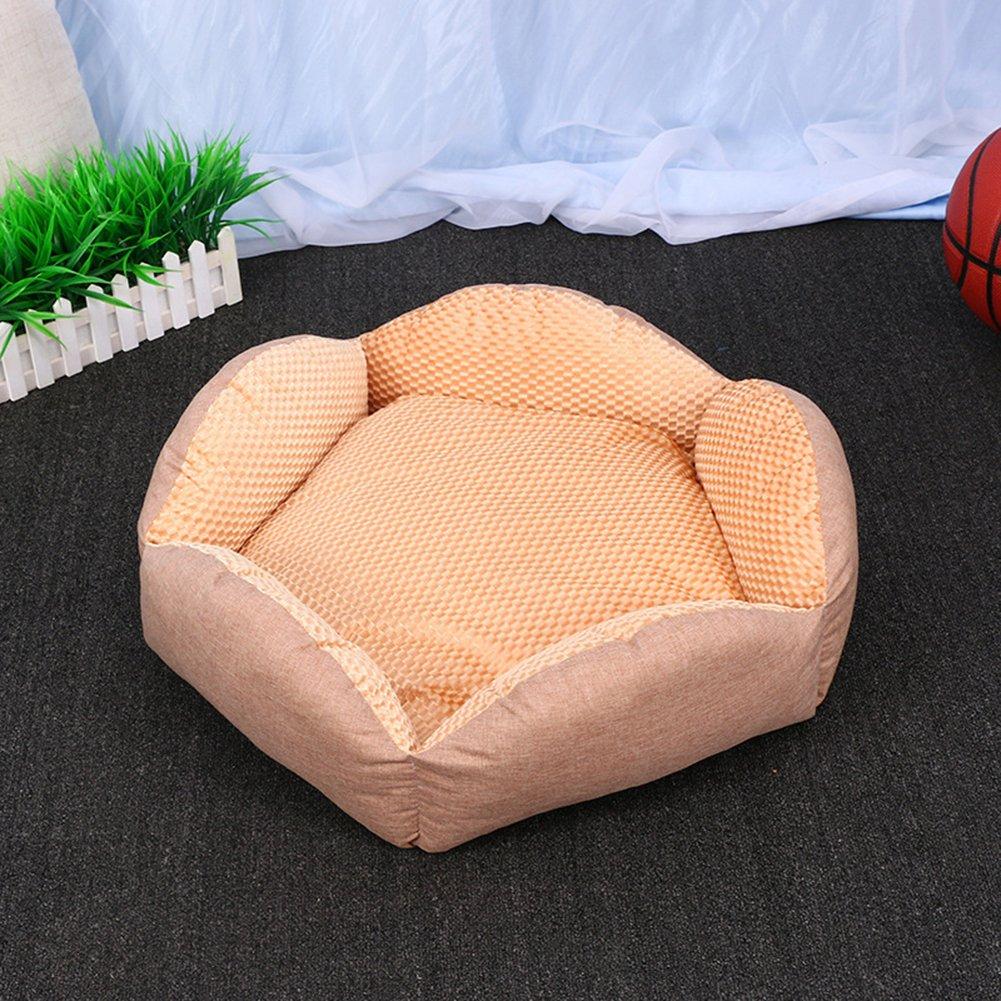 L 585822CM Exquisite Linen Pet Mat Autumn Washable Home Pet Supplies Warm Pet Kennel,L 585822CM