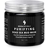 Natural and Organic Dead Sea Mud Mask for Face and Body Infused with Argan oil and Honey – Unscented - Used as Blackhead…