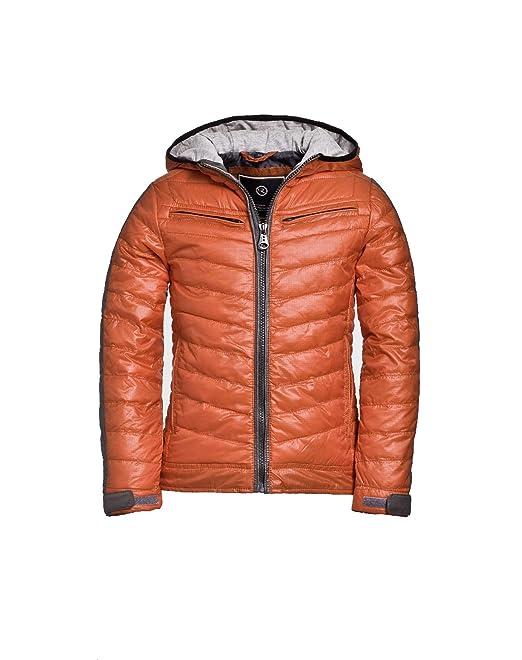 Reset Joven - Chaqueta con capucha y pespunte, color naranja: Amazon.es: Ropa y accesorios