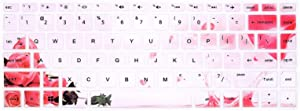 "HRH Keyboard Cover for HP 14"" Laptop 2020 2019 2018,HP Pavilion x360 14M-BA 14M-CD 14M-DH 14-BA 14-BF 14-cm 14-CF 14-DF 14-DK 14-DS 14-DQ Series 14 Inch Protective Skin,Rose Flower"