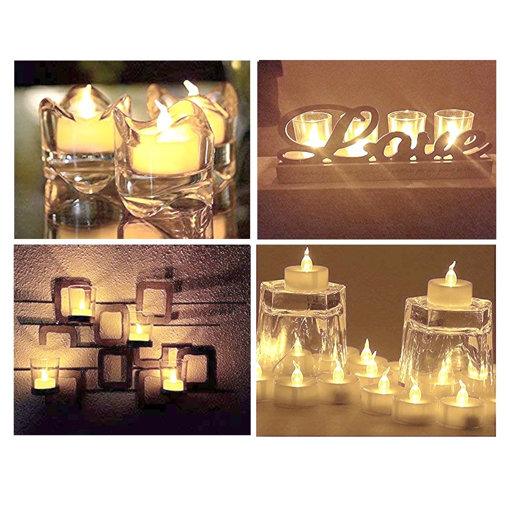 Beichi 100 Pack Flameless LED Tea Light Candles, Battery Operated Votive Tealight Little Candles with Warm White Flickering Buld Lights, Small Electric Fake Tea Candles for Holiday, Wedding, Party by Beichi (Image #4)