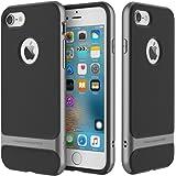"Rock Silikon Tasche Bumper TPU+PC Schutzhülle Back Cover Handy Tasche für Apple iPhone 7 4.7"" Grau"