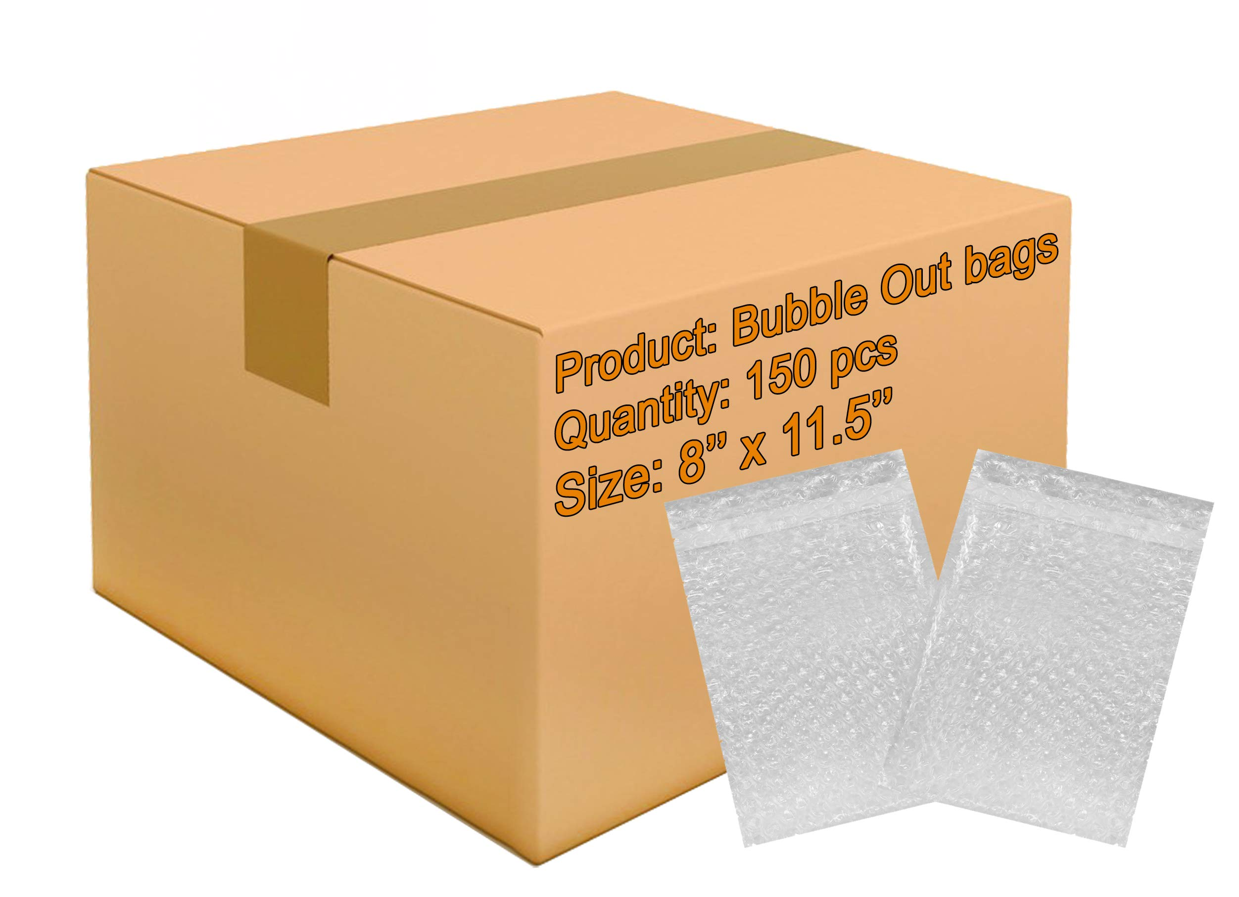 150 Pack of Bubble Out Bags 8 x 11.5. Self-Sealing Packing Moving Bags Pouches 8 x 11 1/2 Cushion Lightweight Bags for mailing and Packaging. Wholesale Price.