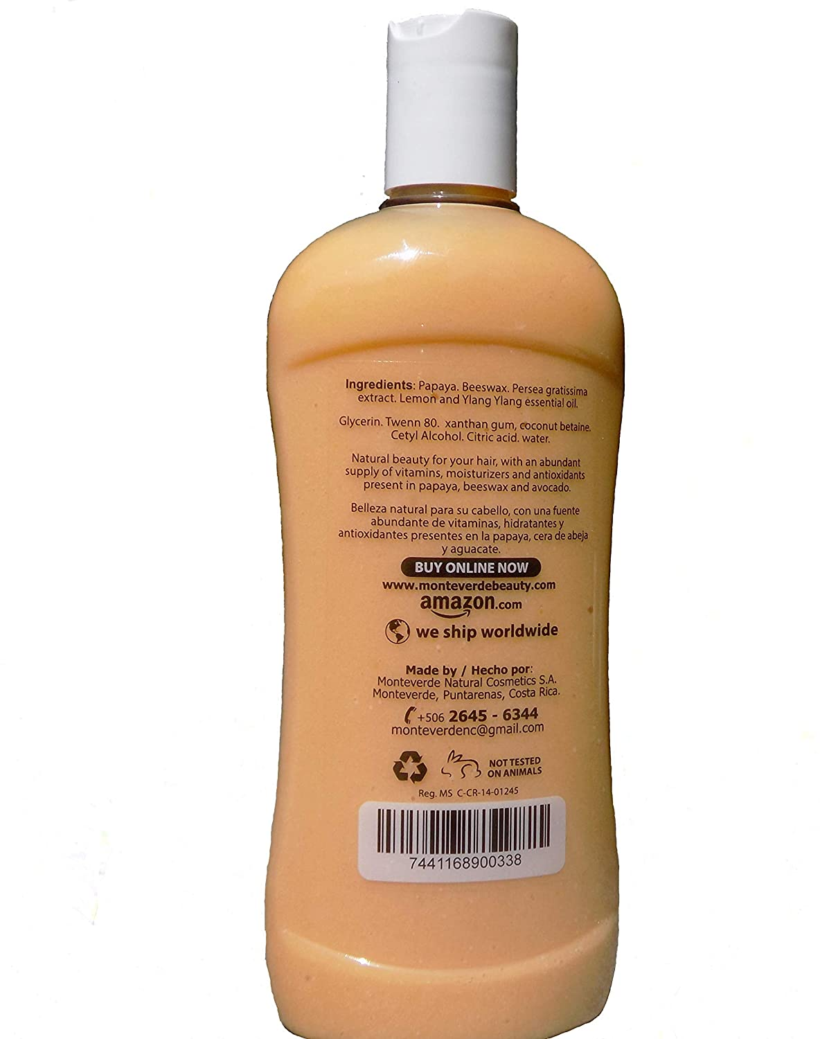 Amazon.com: Papaya & Beeswax Hair conditioner (14 oz)- With Lemon and Ylang Ylang essential oil, Avocado extract- For soft and shine hair - Sulfate, ...