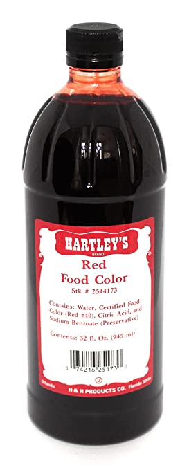 Amazon.com : Red Food Coloring - Hartley\'s Commercial Grade ...