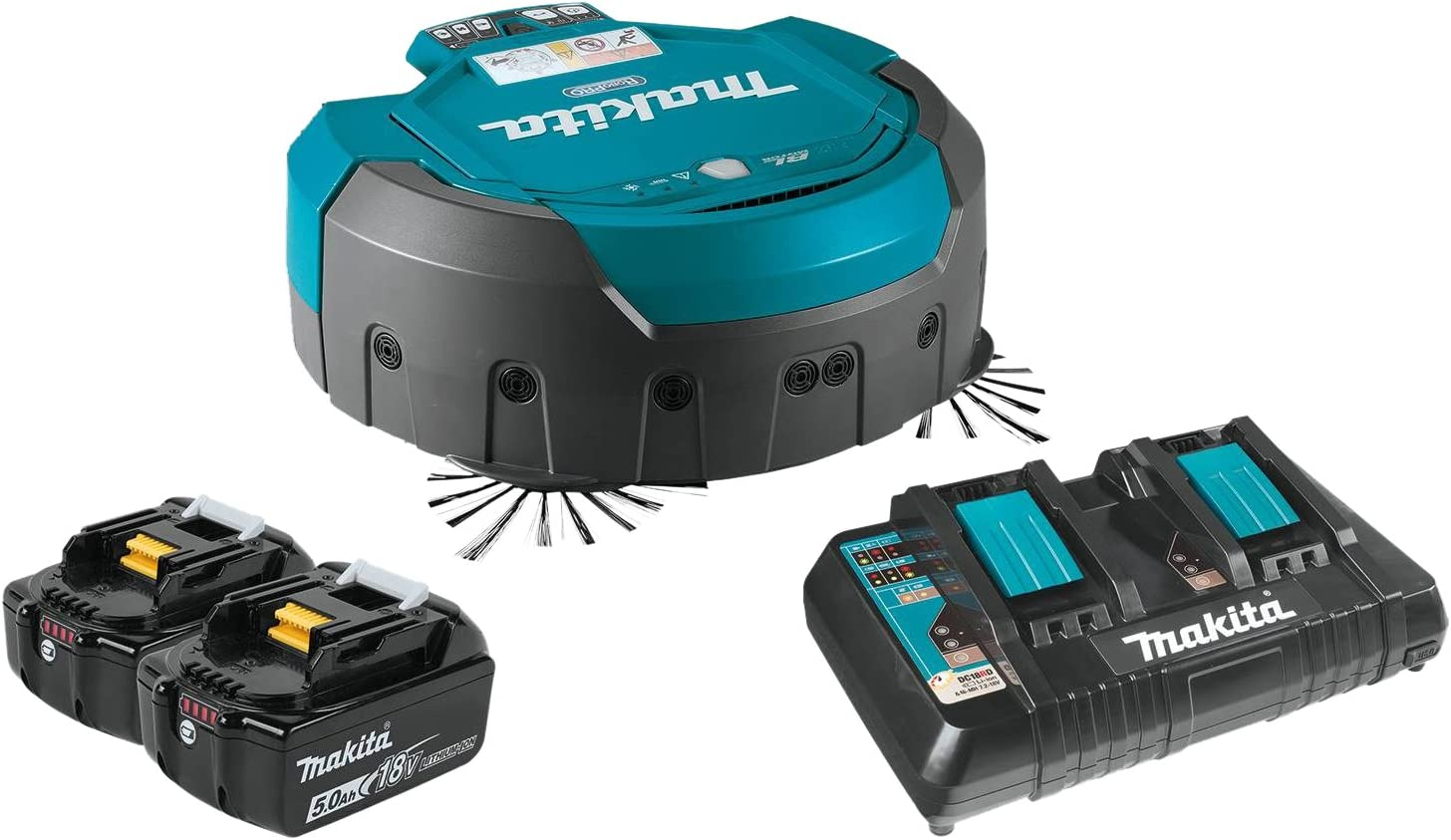 Makita DRC200PT 18V X2 LXT Lithium-Ion Brushless Cordless Robotic Vacuum Kit (5.0Ah)