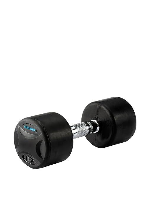 Salter PT-2810 - Mancuernas de Caucho, Color Negro, Peso 10 kg