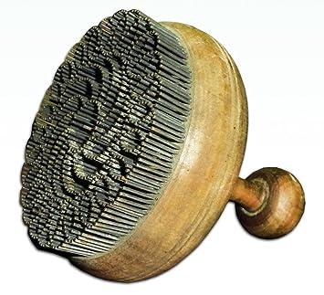 Tradicional de madera hecho a mano uzbekas sello chekich para pan No t1132