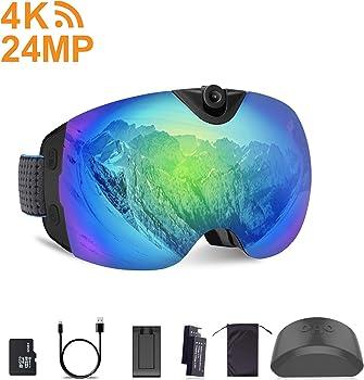 OhO Anti-Fog Snowboard 4K WiFi and 24MP Ski Goggles