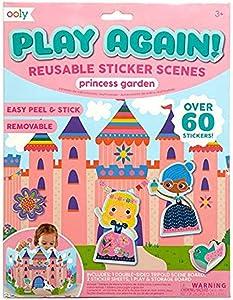 OOLY, Play Again! Reusable Sticker Scenes: Princess Garden