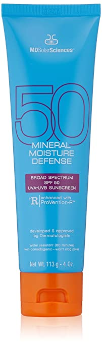 MDSolarSciences Mineral Moisture Defense SPF 50 Sunscreen, 4 Oz Best Reef-safe Sunscreen