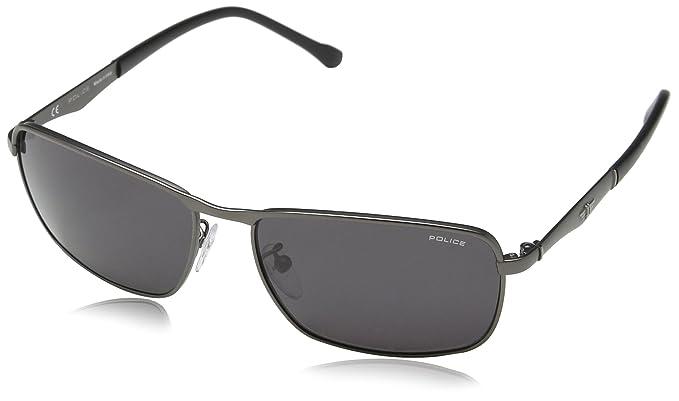Police S8968-gafas de sol Hombre Gris Gris (SEMI-MATT ...