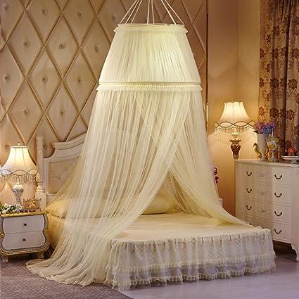 LISABOBO Pizzo cupola a nastro letto matrimoniale a baldacchino ...