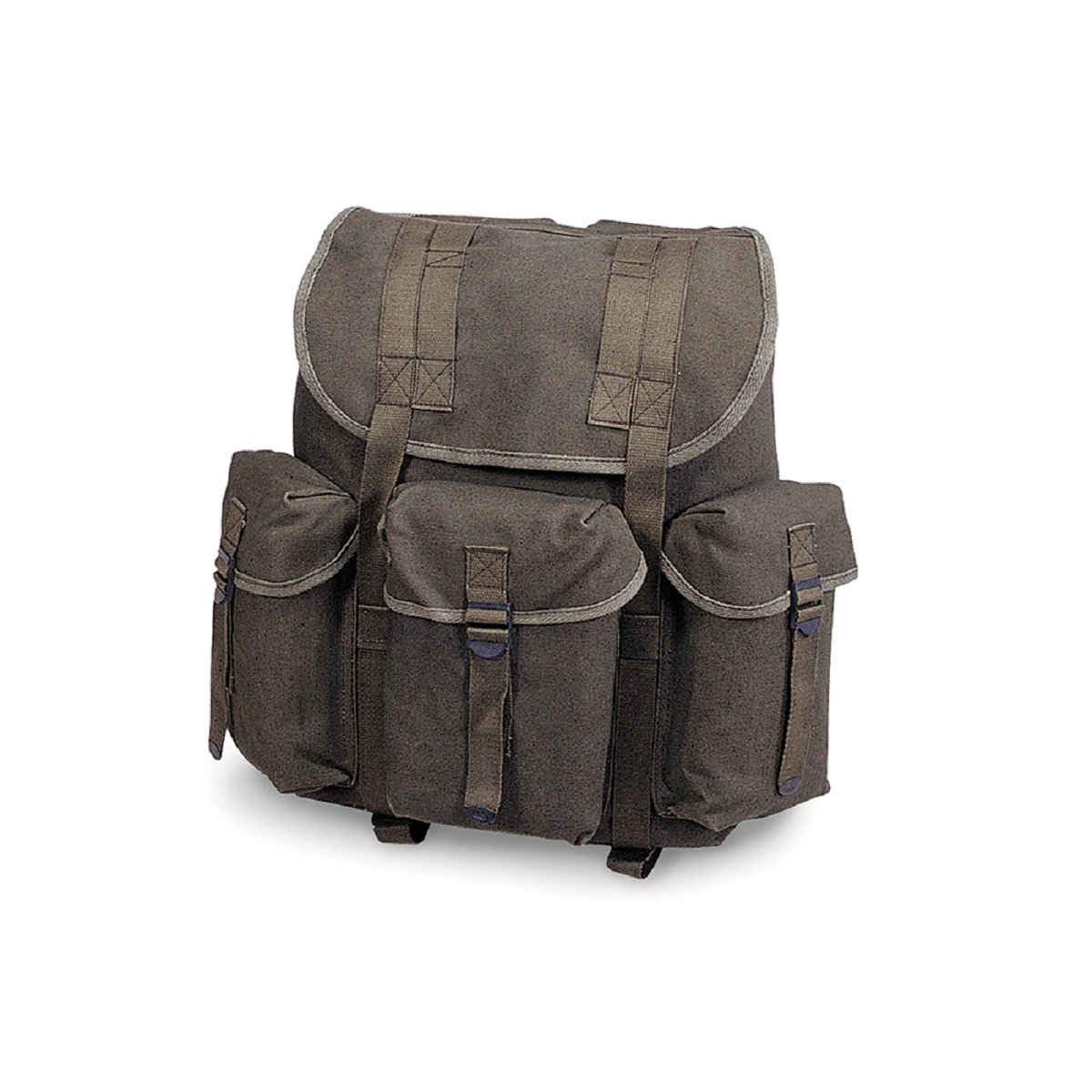 COTTON G.I. RUCKSACK - O.D., Case of 12 by DollarItemDirect