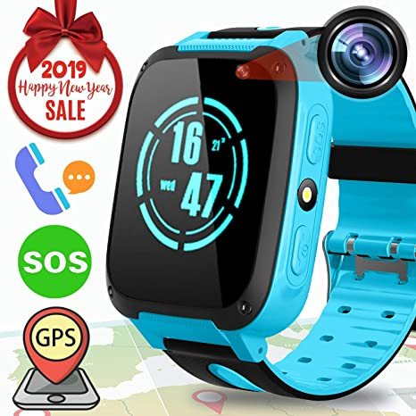 ONMET Reloj Inteligente para niños, Reloj Inteligente para niños con rastreador GPS y Pantalla táctil