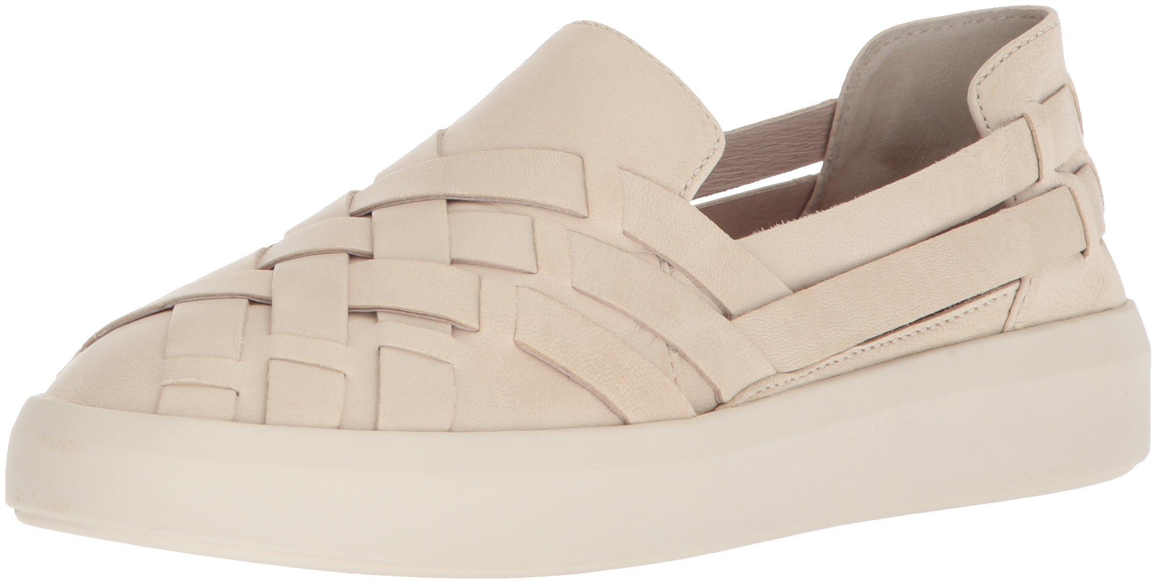 FRYE Women's Brea Hurache Slip On Sneaker, White, 9.5 M US
