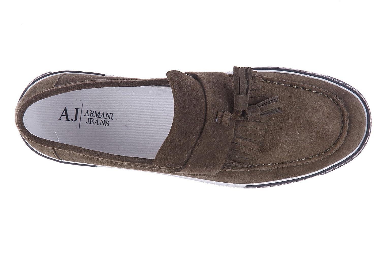 Armani Jeans Mocasines en Ante Hombres frange nappine Verde EU 42 C6763 65 6B: Amazon.es: Zapatos y complementos