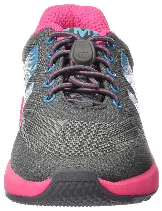 Merrell Mädchen Mi Versent Sneakers, Mehrfarbig (Grey/Pink/Turquoise), 32 EU
