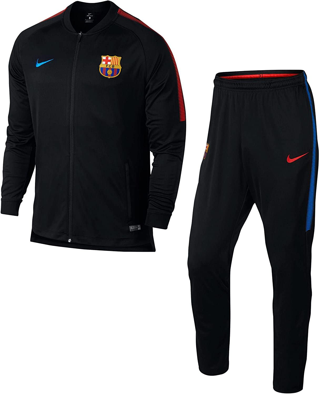 Nike FCB M Nk Dry Sqd TRK K Chándal, Hombre, Negro (Black/Soar ...
