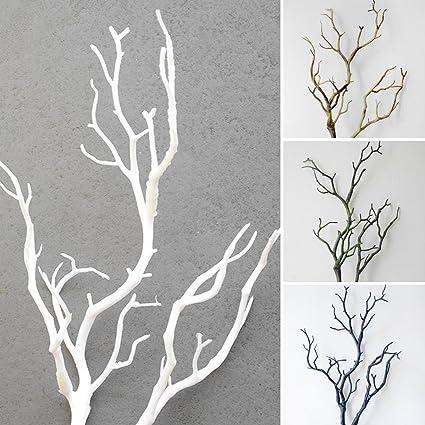 lunji 5 piezas Rama Artificial - rama decorativa artplants - Decoración Mesa 36 CM (blanco): Amazon.es: Hogar