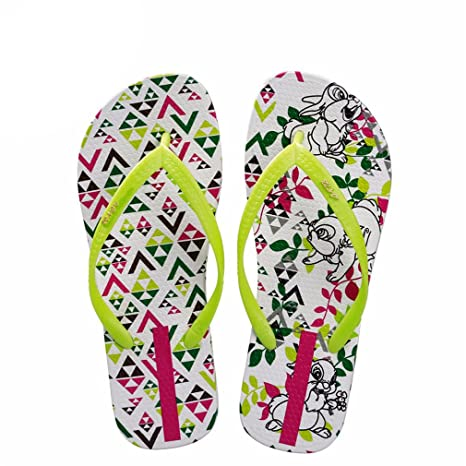 0e316b1f146d9 Image Unavailable. Image not available for. Color  flip flops Women Cute Flat  Bunny Rabbit Animals Summer Slippers Comfortable Beach Sandals Ladies