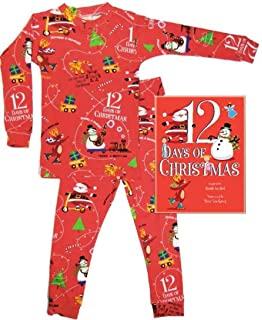 Books to Bed 12 Days of Christmas Boys  Long John Pajamas With 12 Days of ff48e4027